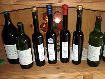 Veredeltes Obst - in edle Flaschen gefüllt