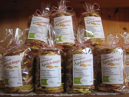 Rainer's getrocknete Apfelringe - ein echtes Produkt aus unserer Region